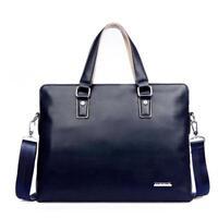Men's Casual Briefcase Leather Shoulder Messenger Bags Computer Laptop Handbag
