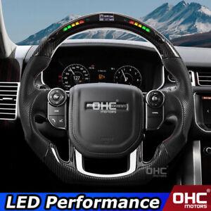 Carbon Fiber+LED Steering Wheel for Range Rover Discovery / Sport Velar Defender