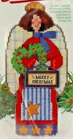 1996 NIP Dimensions Stand-Ups Counted Cross Stitch Kit Merry Christmas Angel7681