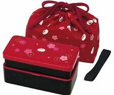 KLS5 Lunch Bento Box Double with Bag KLS5 NEW JAPANESE komon iori Red Rabbit