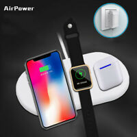 Airpower Wireless Charger Pad 3in1 Qi Wireless Charger Holder for Apple Airpod 2