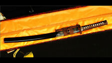 Wakizashi 1095 Carbon Steel Clay Tempered Rayskin Saya Copper Tsuba Heavy Cut
