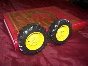Parts, Precision John Deere 70 wheatland rear wheels, 1/16, Ertl, NICE custom JD