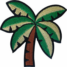 Palm Tree Iron Sew On Patch Holiday Beach Embroidered Badge Embroidery Applique