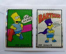 1980s The Simpsons Vending Machine Prism Shiny Sticker Bart DOUBLE Bartman Dude