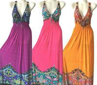 PLUS SIZE Women Long Maxi summer beach hawaiian Boho evening party sundress #7
