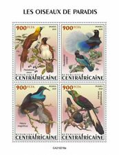 More details for central african rep birds of paradise on stamps 2021 mnh birds-of-paradise 4v ms