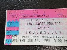 Human Waste Project Troubadour 1/16/1998  ticket stub