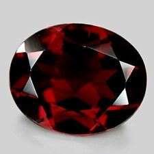 OVAL-FACET NATURAL ALMANDITE GARNET: SIZES AVAILABLE FROM 5x3mm - 20x15mm