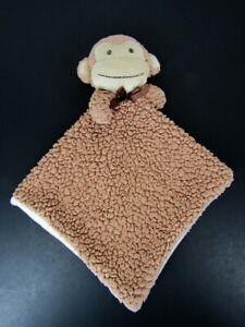 Bean Sprout Brown Monkey Sherpa Lovey Security Blanket Baby Tan Cream Beansprout