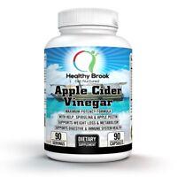 Healthy Brook Apple Cider Vinegar 90 Caps KELP SPIRULINA WEIGHT LOSS DIGESTION