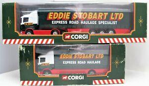 1/64 Eddie Stobart Scania Curtainside + SWB No's 59503 & 59508 Lorries - (1452)