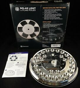Solar Flag Pole Light LED Downlight For Most 15 to 25 Ft. In Ground Poles, NIB