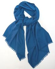 NWOT Authentic BRIONI Blue Textured 100% CASHMERE Long Scarf Pashmina