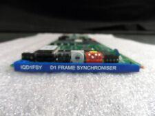 (1x) Snell & Wilcox IQD1FSY D1 Frame Synchronizer Module AD1SYN1C