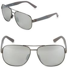 139cd8c80ea GUCCI Square Men Sunglasses GG 2260 F S Grey Metal Silver Mirrored JOPSS