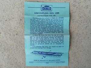 Hornby Dublo Manual Uncoupling Rail UBR INSTRUCTIONS FOR USE