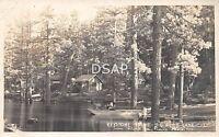California Ca Postcard Real Photo RPPC c1930 BIG BEAR LAKE Keystone Point Cabin