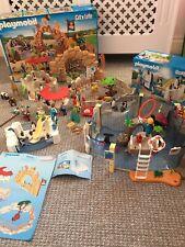 Playmobil Large Zoo Bundle, Large City Zoo 6634, Aquarium 9060 & Penguin 9062