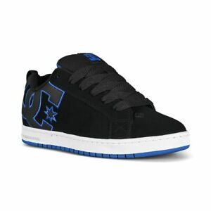 DC Men's Court Graffik Black Royal Skate Trainers Shoes UK 7.5 and UK 8