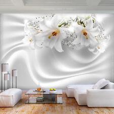 VLIES FOTOTAPETE Blumen Lilien weiß Abstrakt TAPETE WANDBILDER XXL Wohnzimmer