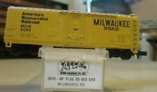 N SCALE ATLAS MILWAUKEE ROAD 40FT BOXCAR  OB