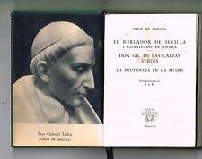 Tirso De Molina El Burlador De Sevilla 3 Obras Crisol Aguilar Minibook Leather