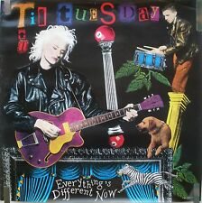 TIL TUESDAY EVERYTHING IS DIFFERENT NOW 1988 VINTAGE MUSIC STORE PROMO POSTER