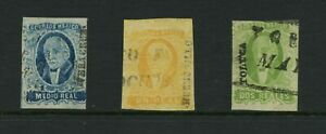 F466 Mexico 1856 Hidalgo IMPERF OVERPRINTED 3v. used
