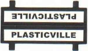 PLASTICVILLE LOADING PLATFORM SIGN for Plasticville O & S Gauge Scale Buildings