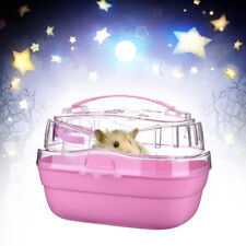 Portable Pet Hamster Hoe Travel Carrier Plastic Small Animal Dwarf Hoe Cage· s