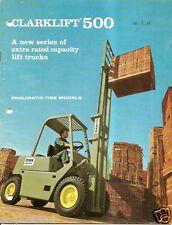 Fork Lift Truck Brochure - Clark - Clarklift 500 4500 5500 lb - 1971 (Lt94)