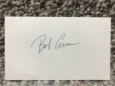 BOB ARUM SIGNED AUTO 3X5 INDEX CARD Manny Pacquiao Boxing Promoter