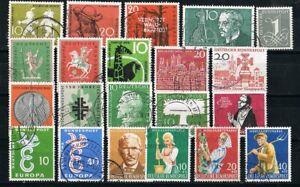 Briefmarken Deutschland Jahr 1958 gestempelt