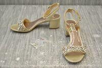 Badgley Mischka Ivanna Dress Sandal - Women's Size 7, Platino