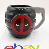 Deadpool Grenade Marvel Comics Coffee Cup Mug Tea Two Sided RARE!