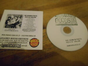 CD Punk Vermin Poets - Poets Of England (12 Song) Promo DAMAGED GOODS cb