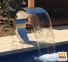 Water Feature Stainless Steel Waterfall Fountain Swimming Pool Pond Garden