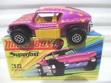 Lesney Matchbox 1970 MB30B Pink +Yew BEACH BUGGY Yellow Interior LARGE Exhausts