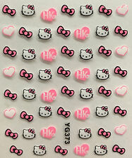 Nail Art 3D Decal Stickers Hello Kitty Hearts Bows HK XF182