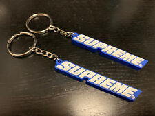BLUE Supreme Bevel Box Logo Keychain Red SS18 RARE Deadstock Brand New BOX LOGO