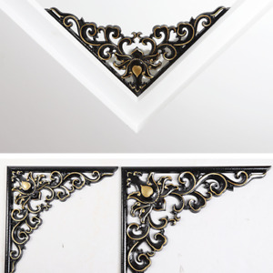 Euro Carved Corner Applique PVC Wall Frame Onlay Furniture Mold Ornament