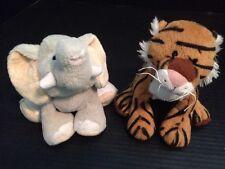 Webkinz Ganz Plush Velvety Elephant HM167  HM166 Bengal Tiger NO CODES Lot of 2