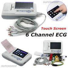 ecg600g electrocardiograph 6 canali 12 tracce multi - lingua ecg stampante