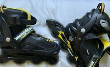 Mongoose Rollerblades Inline Skates Size 1-4, Yellow and Black, Unisex