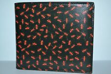 Paul Smith Mens Ants Print Leather Billfold Wallet Brand New