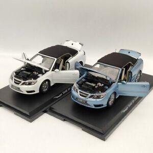 Original 1:18 SAAB 93 9-3 Convertible Sport Car Diecast Models White/Blue