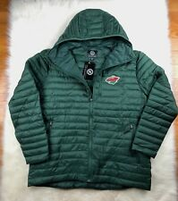 Minnesota Wild NHL Full Zip Hooded Winter Puffer Jacket Green, G-III, Men's 2XL
