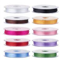 Bobine de fil Nylon Elastique 0,8mm Couleur au Choix environ 10m creation bijoux