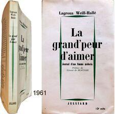 Grand peur d'aimer 1961 Weill-Hallé journal femme médecin controle naissance